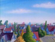 Goof Troop - Spoonerville Neighborhood - View from the Roof