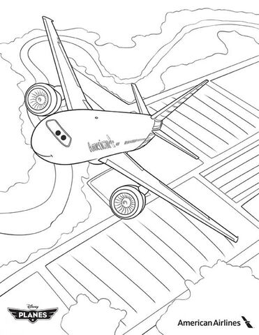 File:American-Airlines-Plane-in-Disney-Planes-Coloring-Page.jpg