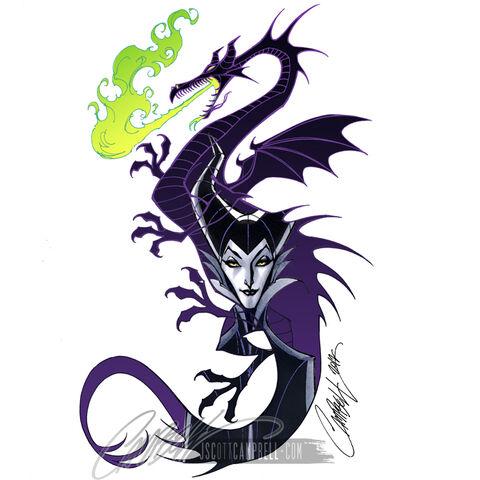 File:Maleficent dragon abandoned concept by j scott campbell-d701j9b.jpg