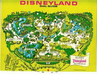 1976 Disneyland Map