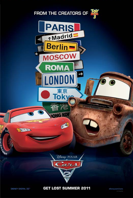 Image - Cars 2 poster.png | Disney Wiki | FANDOM powered ...