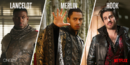 Once Upon a Time - Lancelot, Merlin and Hook