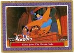 DISNEY ALADDIN CARD No 51 GENIE JOINS THE HAREM GIRLS FRONT