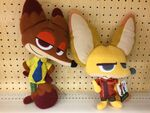 Nick and Finnick flat plush