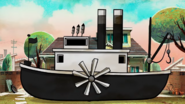 Steamboat Willie boat in Canned