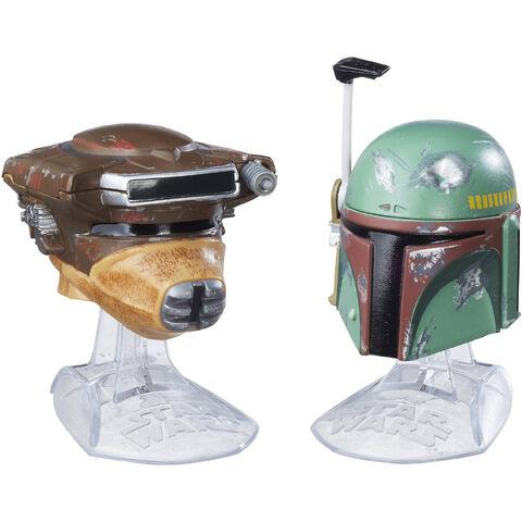 File:Boba Fett and Leia Bounty Hunter Helmets Black Series.jpeg