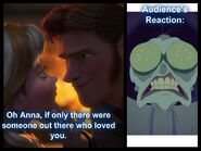 Yzma's reaction while watching Frozen during Hans' betrayal