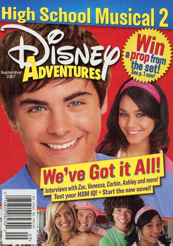 File:Disney Adventures Magazine cover September 2007 High School Musical 2.jpg