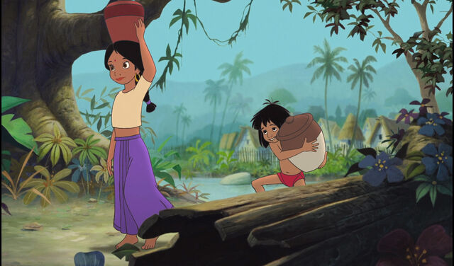 File:Mowgli and Shanti are both at the jungle.jpg