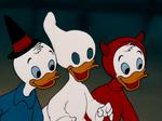 Huey Dewey and Louie in Halloween costumes