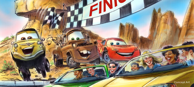 File:Cars Land ad for Radiator Springs Racers.jpg