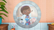 Doc, stuffy, lambie and chilly in the mirror