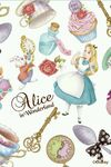 Alice and the White rabbit with Wonderland objects