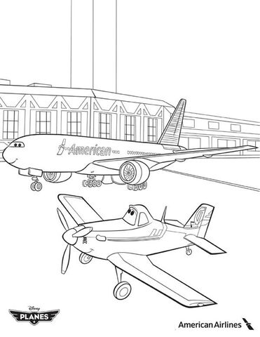 File:Dusty-and-American-Airlines-Plane-in-Disney-Planes-Coloring-Page.jpg