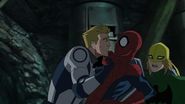 File:John Jameson asking Spider-Man for help USM.png