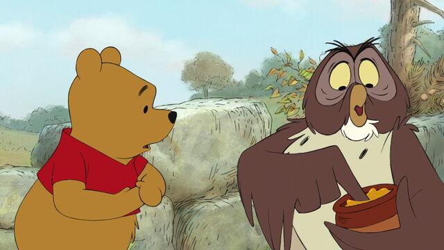 File:Winnie the Pooh has his honeypot taken away by Owl.jpg