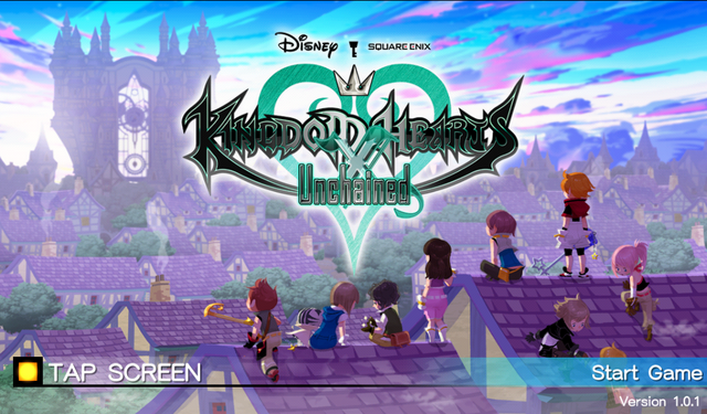 File:Kingdom Hearts Unchained X Title Screen.png
