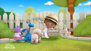 Doc, lambie, hallie, stuffy and moo moo