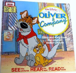 Oliver and Company Disney Read Along 1st Cassette