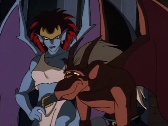 File:Gargoyles-demona-with-brooklyn.png