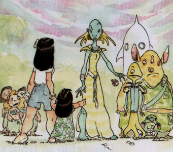 File:Lilo & Stitch concept art meeting aliens.jpg