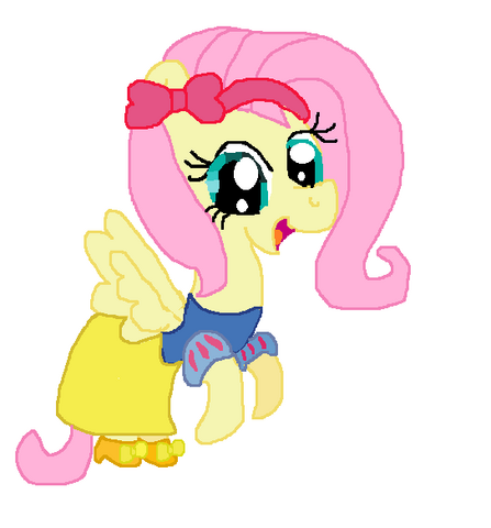 File:Fluttershy as Snow White.png
