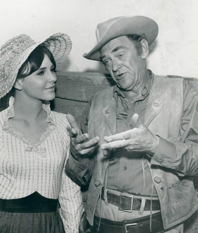 File:John McIntire and daughter Holly Wagon Train 1963.JPG