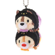 Halloween Chip and Dale Tsum Tsum Keychain