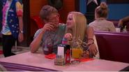Maddie and Josh at a Restaurant