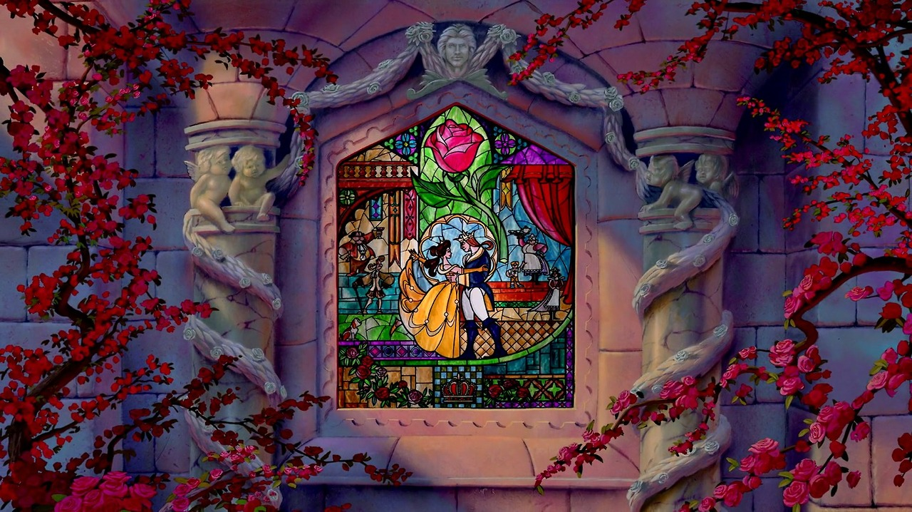 Image Beauty And The Beast Stained Glass Ending Jpg