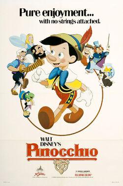 Pinocchio 1984 Re-Release Poster