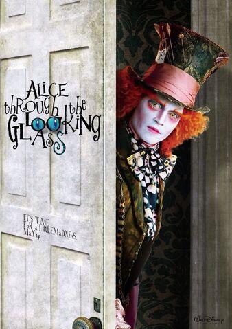 File:Alice Through the Looking Glass - Hatter Behind Door.jpg