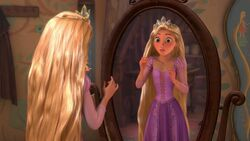 Rapunzel tries on the crown.jpg