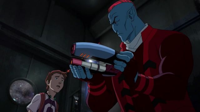 File:Young Peter Quill and Yondu Animated.png