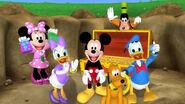 The whole cast mickey's treasure hunt