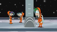 Ferb, Phineas, and Isabella in space