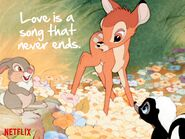 Bambi - Netflix - Love is a song that never ends