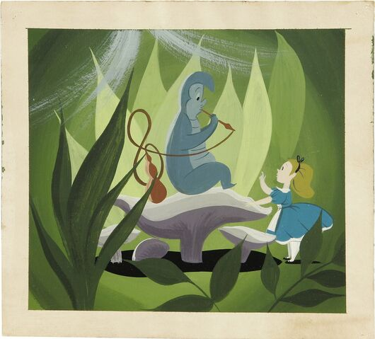File:Disney's Alice in Wonderland - Caterpillar and Alice Concept Art by Mary Blair - 2.jpg