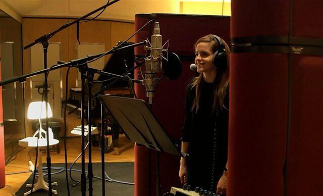 File:Emma Watson in the Recording Studio.jpg