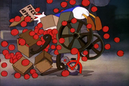Donald running into fresh apples