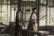 Once Upon a Time - 5x04 - The Broken Kingdom - Behind the Scenes - Snowing