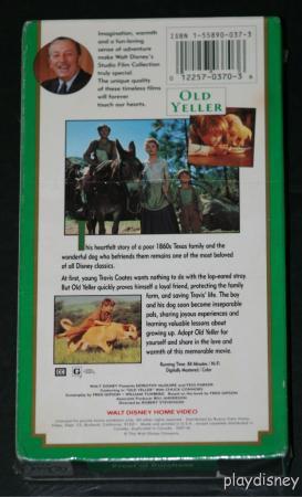 File:Walt Disney Studio Film Collection - Old Yeller VHS - (Rear).jpg