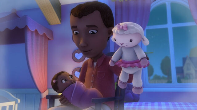 File:Baby doc gets introduced to lambie.jpg