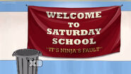 Saturday school banner