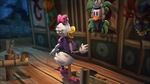 Animatronic Daisy admiring