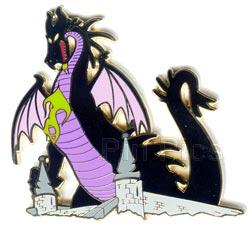 File:Disney Auctions (P.I.N.S.) - Maleficent as Dragon on Castle.jpeg