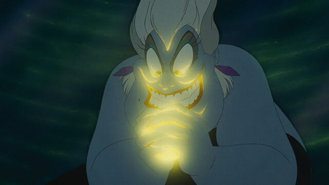 File:The Little Mermaid - Poor Unfortunate Souls - Ursula's Evil Smile with a Glow.jpg