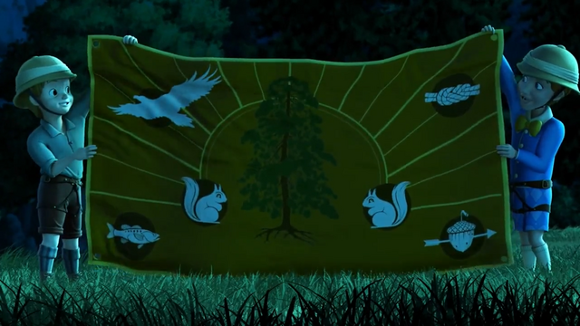 File:Camp wilderwood flag at night.png