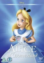 Alice in Wonderland UK DVD 2014 Limited Edition slip cover