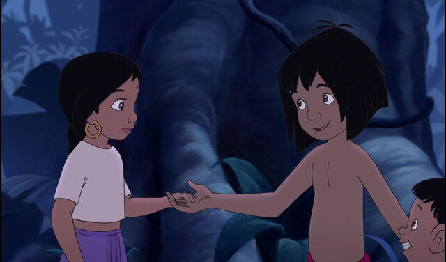 File:Mowgli is going to race Shanti and Ranjan back to their parents.jpg
